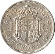 "½ couronne Elizabeth II (1ère effigie, sans ""BRITT:OMN:"") -  revers"