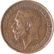 ½ penny George V (1ère effigie, large tête) -  avers