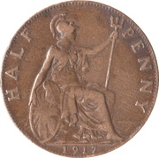 ½ penny George V (1ère effigie, large tête) -  revers