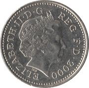 10 pence Elizabeth II (4e effigie, type lion) -  avers