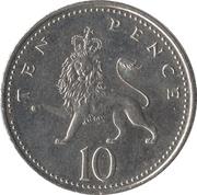 10 pence Elizabeth II (4e effigie, type lion) -  revers