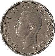 """1 shilling George VI (cimier de l'Écosse, sans """"IND:IMP"""") -  avers"""