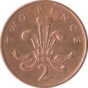 2 pence Elizabeth II (3e effigie, acier plaqué cuivre) -  revers