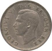 "1 shilling George VI (cimier de l'Angleterre, avec ""IND:IMP"", cupronickel) -  avers"