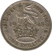 "1 shilling George VI (cimier de l'Angleterre, avec ""IND:IMP"", cupronickel) -  revers"