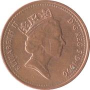 1 penny Elizabeth II (3e portrait, magnétique) -  avers