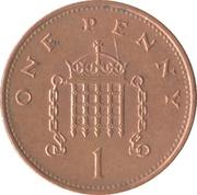 1 penny Elizabeth II (3e portrait, magnétique) -  revers