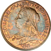 """½ penny Victoria (""""old head"""") – avers"""
