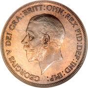 1 penny George V (2e effigie, petite tête) -  avers