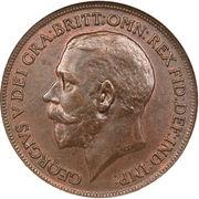 1 penny George V (1ère effigie) -  avers