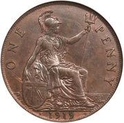 1 penny George V (1ère effigie) -  revers