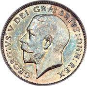 6 pence George V (1ère effigie, argent 925‰) -  avers