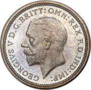 3 pence George V (2e effigie) -  avers