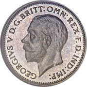 6 pence George V (2e effigie, 2e type) -  avers