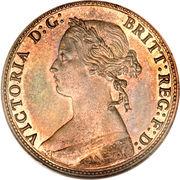 """½ penny Victoria (""""bun head"""", légère) – avers"""