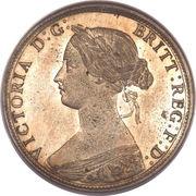 "½ penny Victoria (""bun head"", lourde) – avers"