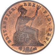 ½ penny George IV – revers