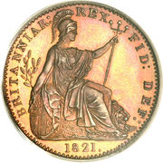1 farthing George IV (date sur le revers) – revers