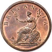 ½ penny George III (2e effigie, date sur l'avers) -  revers