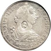 1 dollar  (contremarque George III) – avers