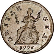 1 farthing George III (1ère effigie) – revers