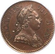 ½ penny George III (1ère effigie) – avers