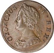 ½ penny George II (2e effigie) – avers