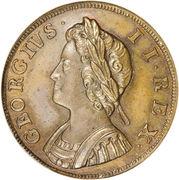 1 farthing George II (1ère effigie, cuivre) – avers