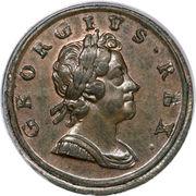 ½ penny George Ier (1ère effigie) – avers
