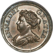 1 farthing Anne – avers