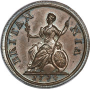 1 farthing Anne – revers
