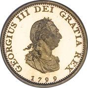 1 farthing George III (2e effigie, avec valeur faciale, cuivre doré) – avers