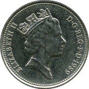 5 pence Elizabeth II (3e effigie, cupronickel, grand module) -  avers