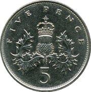 5 pence Elizabeth II (3e effigie, cupronickel, grand module) -  revers