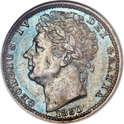 ½ farthing George IV – avers
