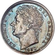 ½ farthing George IV – avers