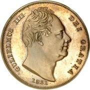 1 farthing Guillaume IV – avers