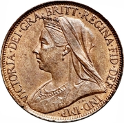 """1 farthing Victoria (""""old head"""") – avers"""