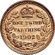 ⅓ farthing Edouard VII – revers