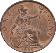 """1 penny Victoria (""""old head"""") -  revers"""