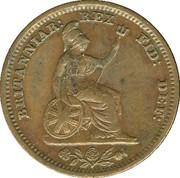 ½ farthing Guillaume IV – revers