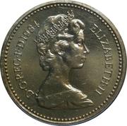 1 livre Elizabeth II (2e effigie, chardon écossais, laiton) -  avers