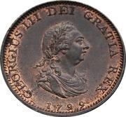 1 farthing George III (2e effigie, avec valeur faciale, cuivre) – avers