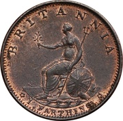 1 farthing George III (2e effigie, avec valeur faciale, cuivre) – revers