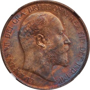 1 penny Edouard  VII -  avers