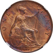 1 penny Edouard  VII -  revers