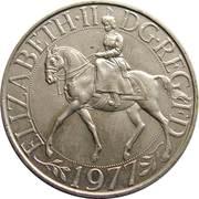 25 nouveaux pence Jubilé d'argent de règne (cupronickel) -  avers