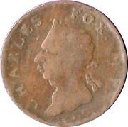 ½ Penny Evasion  ( North   Wales - Charles Fox M.P) -  avers