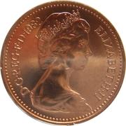 1 penny Elizabeth II (2e portrait) -  avers