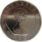 20 pence Elizabeth II (2e effigie) -  avers